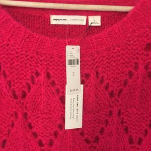 Anthropologie Sweaters - BNWT Anthropologie Bright Lights Pink Sweater